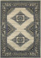 Sphinx Beige Swirls Diamond Curves Floral Contemporary Area Rug Bordered 6658B