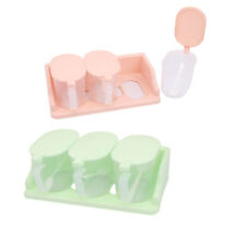 Kitchen Plastic 3 Sections Spices Salt Pepper Condiment Container Dispenser Case