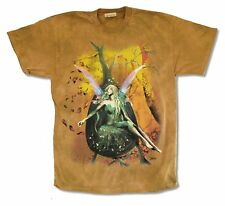 THE MOUNTAIN AUTUMN FAIRY MUSTARD TIE DYE MENS T-SHIRT NEW OFFICIAL
