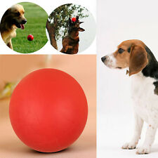Hot 1Pc Funny Pet Dog Rubber Boomer Ball Indestructible Solid Chew Bite Toy Play