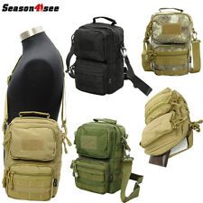 Tactical Military Outdoor Molle Waist Shoulder Bag  Pouch Hiking Camping 1000D