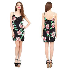 Women Sexy Spaghetti Strap Floral Short Mini Dress Summer Beach Holiday Sundress