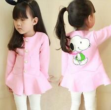 Girls Kids Princess Party Jacket Coat Outwear 2-7Y Tops Tutus Clothes Outwear