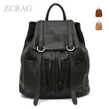 100% Genuine Leather Ladies Backpack Ladies School Bag Handbag Knapsack Rucksack