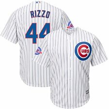 Anthony Rizzo Chicago Cubs Home White Cool Base Jersey w/ Wrigley 100th Patch