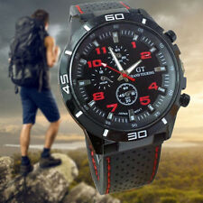 Quartz Mens Watches New Fashion Silicone Band Military Sport Analog Wrist watch