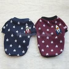 Cute Pet Dog Cat Outfit Clothes Puppy Summer T Shirt With Stars and Rocket Decor