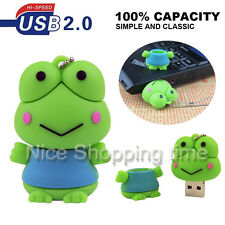 USB 2.0 32GB 16GB 8GB Cartoon Frog Model Memory Stick Flash Pen Drive U Disk