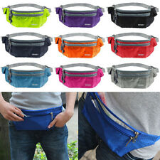 Sport Running Camping Hiking Bum Waist Pouch Fanny Pack Belt Zip Bag Waterproof