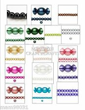 """Beads GLASS PEARL ~ Round ~ 4, 8 & 6mm ~ 15"""" Strands ~ Various Colors & Sizes"""