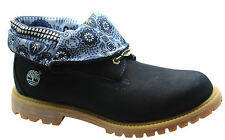 Timberland AF Authentic Roll Top Womens Boots Navy Blue Leather Lace 8261A U50