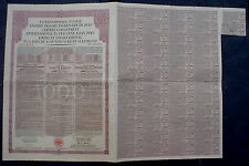 51/2% German Government International Loan Bond to Bearer 1930 uncanc. + coupons