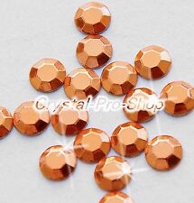 Copper Iron On Faceted Hot Fix Rhinestuds Aluminium Craft Beads 5 , 4 , 3 , 2 mm