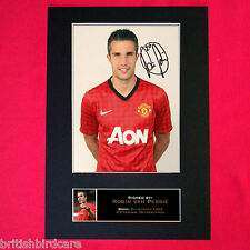 ROBIN VAN PERSIE No1 Mounted Signed Photo Reproduction Autograph Print A4 142