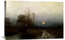 'River Sunset' by Julian Walbridge Rix Painting Print on Wrapped Canvas