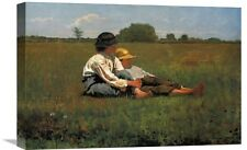 'Boys in a Pasture' by Winslow Homer Painting Print on Wrapped Canvas