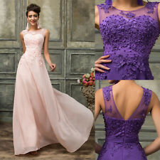 Plus Size 20-26 Chiffon Bridesmaid Evening Ball Gown Wedding Dress Long Cocktail