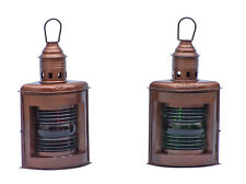 Handcrafted Nautical Decor Port and Starboard Oil Lantern Set of 2