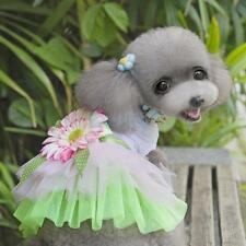 Cute Pet Dog Puppy Tutu Dress Sunflower Lace Princess Skirt Clothes Apparel