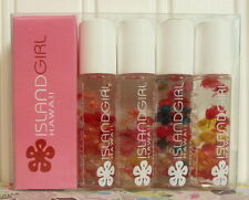ISLAND GIRL HAWAII SET OF 4 SCENTED LIP GLOSS INFUSED WITH REAL FLOWERS