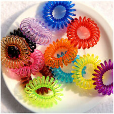 10pcs Spiral Slinky Hair Bands Elastics Bobbles Ties Scrunchies Ponytail Holder
