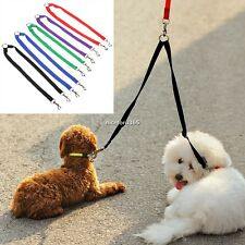 Strong Nylon Double Coupler Dog Pet Lead Leash with Clip for Collar Harness HOT