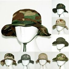 Combat Camo Camouflage Ripstop Army Military Boonie Bush Jungle Caps Hat Fishing