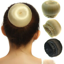 Women Clip In Hair Extensions Bride Dish Buns Cover Hairpiece Tail Bun Scrunchie