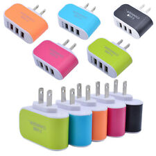Universal 3.1A Triple USB 3 Port Wall Home Travel AC Charger Adapter US/EU Plug