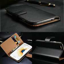 Luxury Flip Real Genuine Leather Case Cover Wallet For iPhone 4S 5 5S 6S 7 Plus