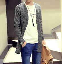 Mens Long Sleeve Knitted Casual New Sweater Loose Cardigan Outwear Jackets Coats