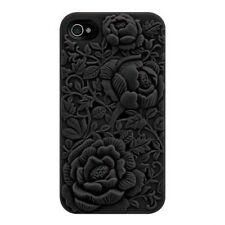 3D Sculpture Rose Flower Phone Case Cover For iPhone 5/5S Silicone Case Cover