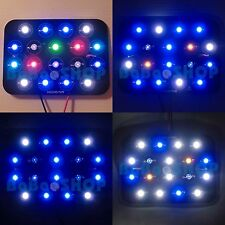 18W Cold White Red Blue Green Purple UV Hybrid LED + Supply + PCB for Aquarium