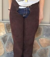 Brown Suede Leather Schooling Chaps - Ladies Size 8-10 - Gently USed