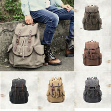 Vintage Men's Canvas Backpack Women Leisure Travelling bag Outdoor Shoulder Bag