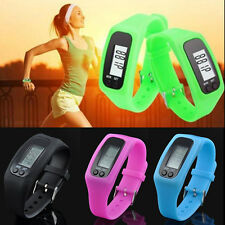 Run Step Calorie Walking Distance Counter Bracelet Digital LCD Pedometer Watch
