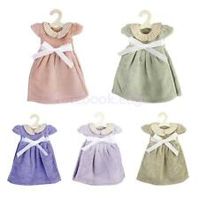 Cute Doll Collar Dress Hanging Face Hand Terry Towel Dish Washcloth w/ Hanger