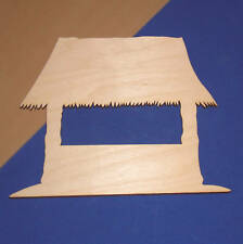 TIKI HUT Unfinished Wood Shape Cut Out TH5116 Crafts Lindahl Woodcrafts
