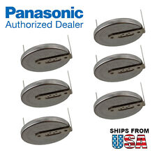 6x Panasonic CR-2032/HU3N 3V Lithium Coin Battery Horz 2 Pins PC CMOS Systems