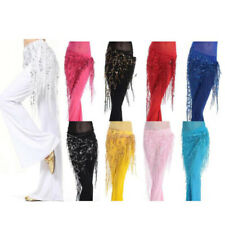 FRINGE BELLY DANCE HIP SCARF WRAP BELT DANCER SKIRT COSTUME TASSLES DANCEWEAR