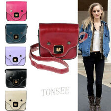 New Cute Women Leather Satchel Messenger Shoulder Bag Handbag Cross Body Purse