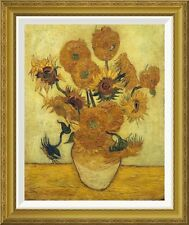 'Vase with Fifteen Sunflowers, 1889' by Vincent Van Gogh Framed Painting Print