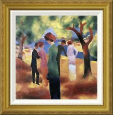 Global Gallery 'Lady in a Green Jacket' by August Macke Framed Graphic Art