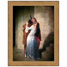 Design Toscano The Kiss, 1859 by Francesco Hayez Framed Painting Print