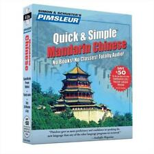 PIMSLEUR QUICK AND SIMPLE MANDARIN CHINESE - NEW CD/SPOKEN WORD BOOK