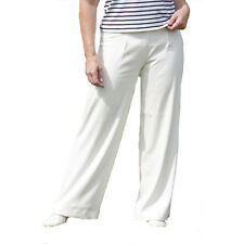 Ladies Milan Soft Quality Flair Summer Off White Casual Trousers Slacks