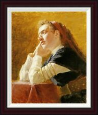 Portrait of a Young Woman by Ilia Efimovich Repin Framed Painting Print