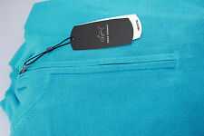 Greg Norman Fully Lined Zip Neck Golf Wind Jumper Bright Turquoise Blue M,XXL