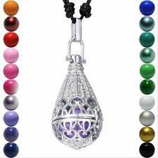 Steampunk Teardrop Magic Locket Pendant Harmony Ball Aromatherapy Necklace Gifts