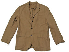 Polo Ralph Lauren Mens Khaki Brown Linen Cotton Sportcoat Blazer Jacket New